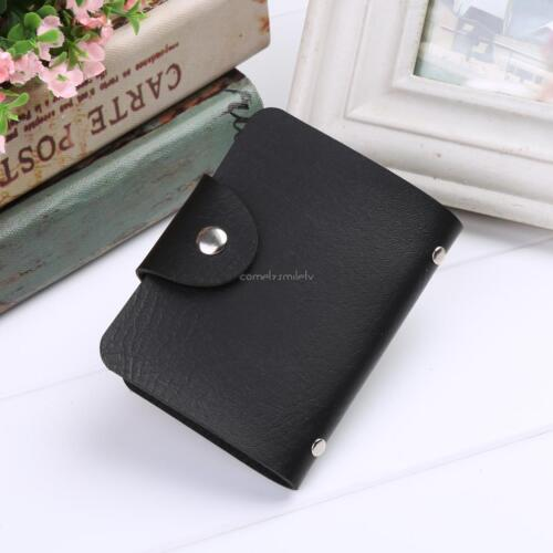 New New Unisex PU Leather 24 Cards Slots Men Women Purse Wallet Pocket CLSV