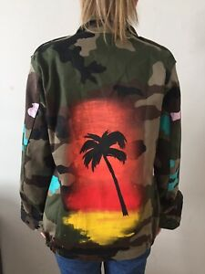 Military Hand Jacket A Of One Kind Painted X7UCUw