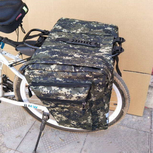 Cycling Bicycle Bike Rack Back Rear Seat Tail Carrier Trunk Double Pannier Bag