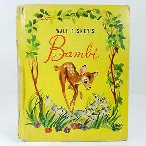 1942-Walt-Disney-039-s-Bambi-Harder-To-Find-Cover-Grosset-amp-Dunlap-Deer-Thumper