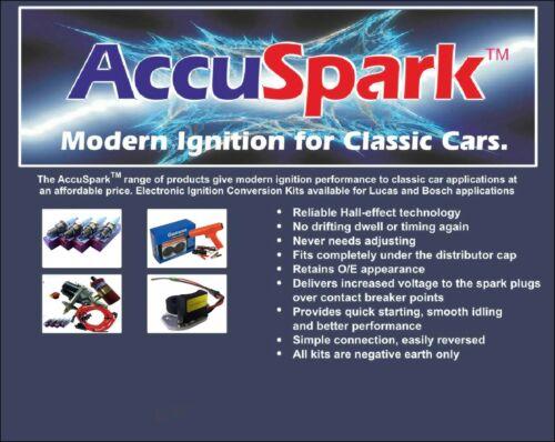 Accuspark Bleu Silicone HT Lead Set pour Ford Capri V6 avec 105 cm Bobine plomb