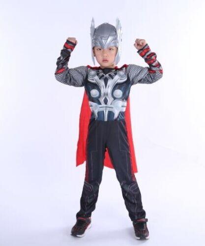 Cloak free Thor Avengers Costume for Boys Children Costume new size S,M,L Mask