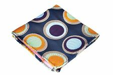 Lord R Colton Masterworks Pocket Square Copper Blue Origin Symmetry Silk $75 New