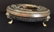 "Brass Chinese Zodiac Incense Burner Zen Vintage Large 12"" Diameter"