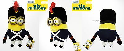 Peluche Film Minions 2015 Movie 34cm 3D Guardia Minion Soldato Napoleone Vestiti