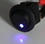 Interrupteur Lumineux LED 12V Voiture Bord Rouge Bleu 3 Broches On Off Moto