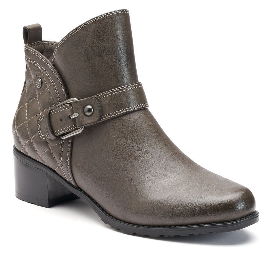 $85 NWT Women's Dana Buchman Quilted Ankle Booties Gray