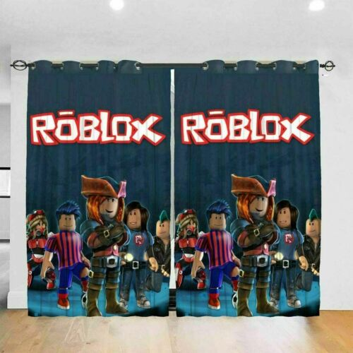 Roblox Thermal Blackout Curtain Pair Ready Made Fully Lined Window Curtain Decor