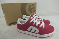 Etnies 'easy-e' Pink Suede W/white Accents Women's Skateboard Shoes Look