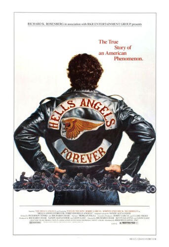 13x19 inch Movie Poster ///'Hells Angels Forever/' Poster//Motorcycle Poster Approx