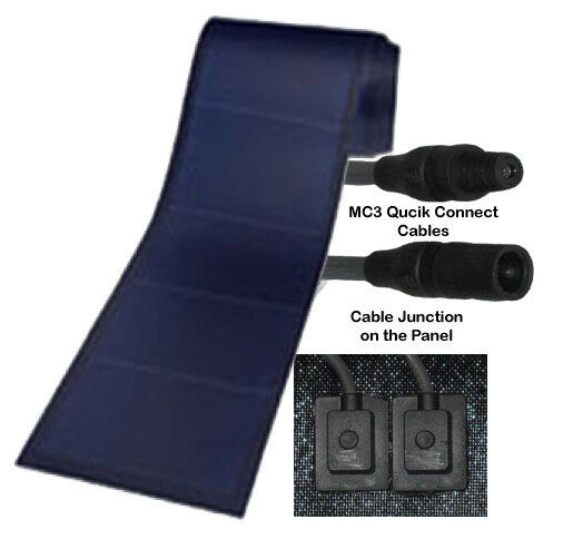 6 x Peel & Stick 136 watt Uni-Solar Laminate Solar Panel Flexible 24v Unisolar