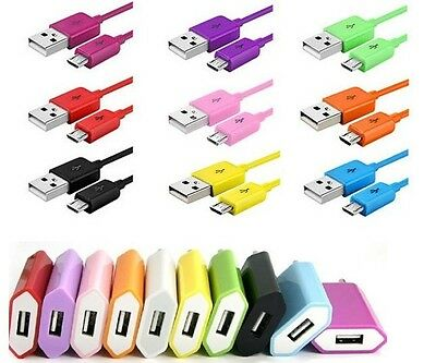 EU Charger + 1M/3ft 2M/6ft 3M Micro USB Data Charge Cable For Samsung S3 S4 S2