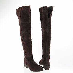 e12a808d02d4 Sam Edelman Johanna Women s Brown Over Knee Suede Boots Size 5.5 M ...