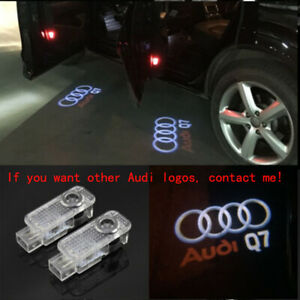 2Pcs Laser LED HD Logo Door Puddle Courtesy Projector Shadow Light For AUDI New