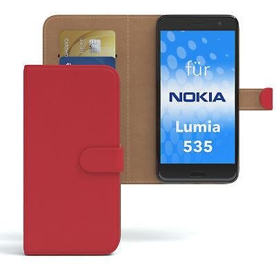 Tasche für Nokia / Microsoft Lumia 535 Case Wallet Schutz Hülle Cover Rot