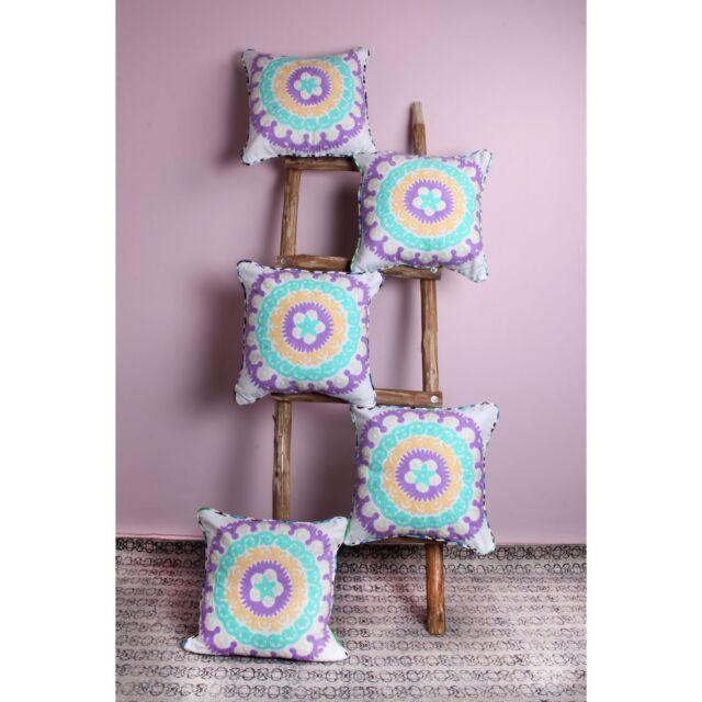 Suzani Embroidery Cushion Cover Throw Pillow Case Bed/Sofa Decor 5 PC SET