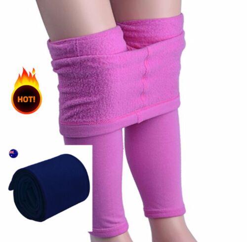 Girls Children Kid Navy Blue School uniform Warm Fleece Tights Stockings 4-7Year