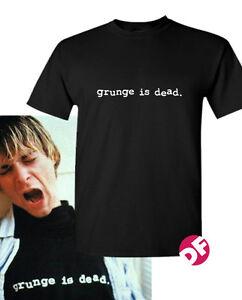 64b501f73 NIRVANA Kurt Cobain replica Grunge is Dead Tshirt Courtney Love T ...