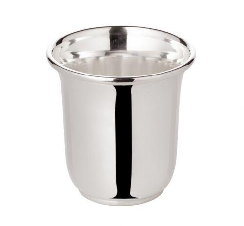 Becher Schnapsbecher Cuno schwerversilbert Füllmenge 0,04 Liter Höhe 5 cm