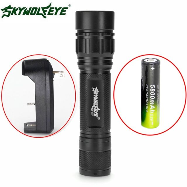 Zoomable 15000LM 3Mode  XML T6 LED Flashlight 18650 + Charger Focus Torch BD