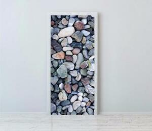 Image Is Loading Pebble Beach Stones Door Wrap Vinyl Self Adhesive
