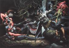 SIMONE BIANCHI rare BATMAN & VILLAINS art print SIGNED limited 2014 NM!