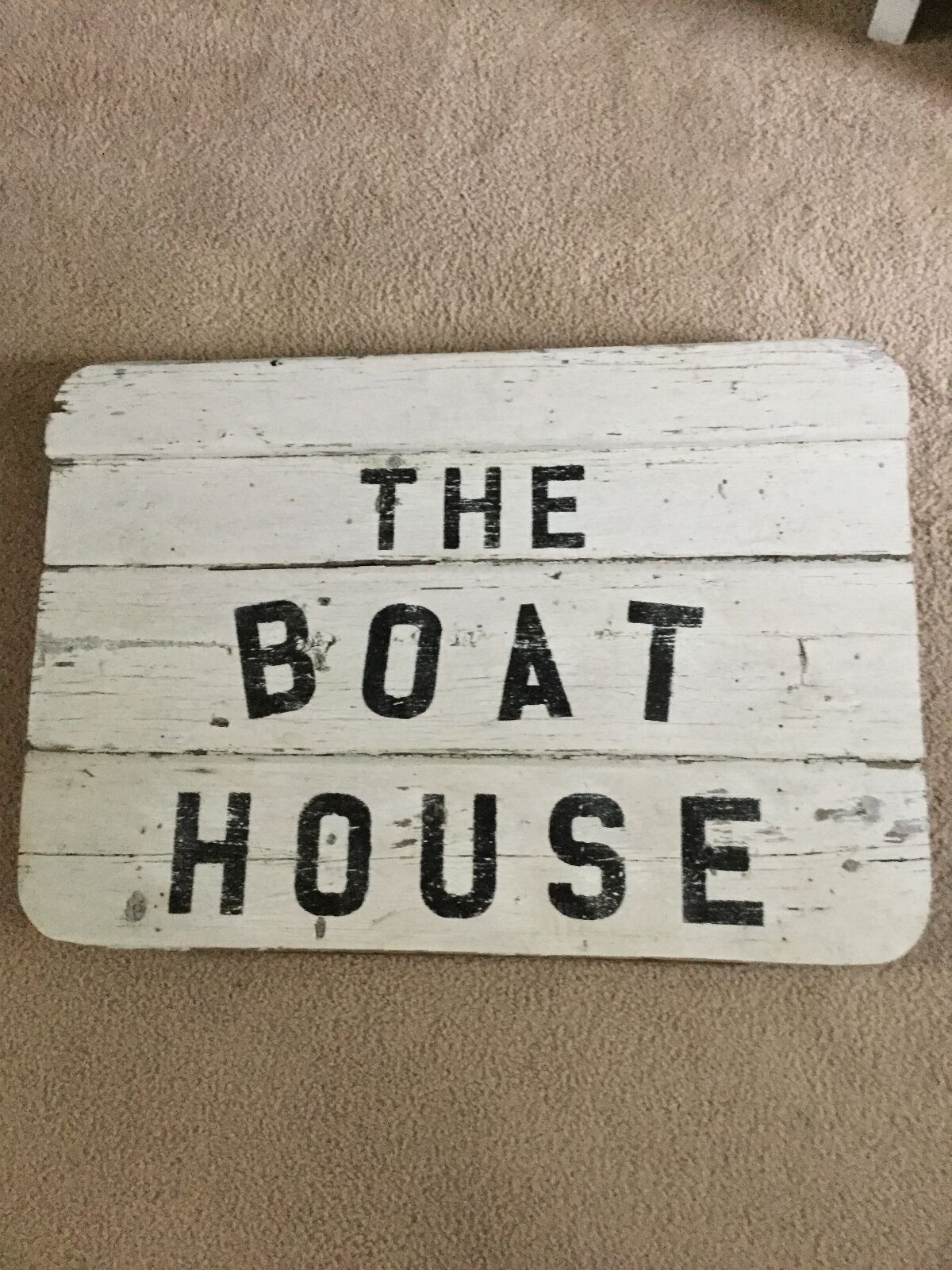 Original Wooden  THE BOAT HOUSE  Sign