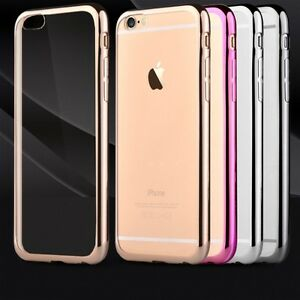 Slim-Electroplated-Edge-Clear-TPU-Soft-Gel-Case-Cover-For-Iphone-6-and-New-6S