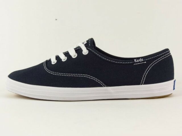 9f3895fa8e0f1 Keds Champion Oxford Womens Blue Canvas Athletic SNEAKERS Shoes Size ...