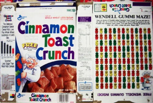 early 1990s Cinnamon Toast Crunch Cereal Box gg101