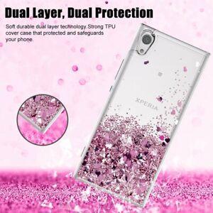 Moving-Liquid-Quicksand-ShockProof-Clear-Case-For-Sony-Xperia-X1-X10-XA1-XA2-L3