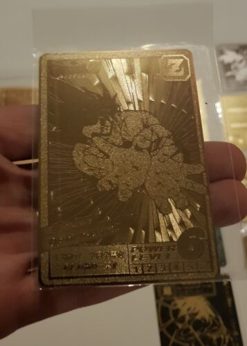unofficial Dragon ball z card special gold metal super battle 06