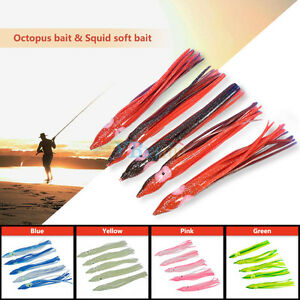 11cm-5Pcs-Soft-Plastic-Fishing-Lures-Octopus-Trolling-Squid-Skirt-Lure-Bait