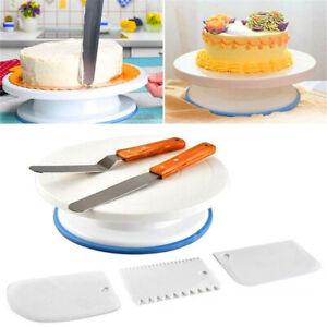 11-034-6PCs-Set-Cake-Rotating-Stand-Decorating-Turntable-Plate-Display-Decorating