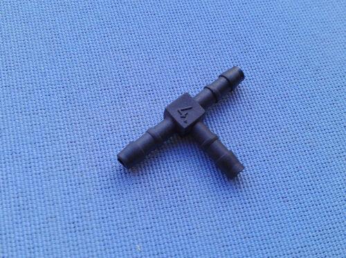 2x T Schlauchverbinder RGV 4 mm 4 mm 4 mm Connector 36mm T Stück schwarz 86C