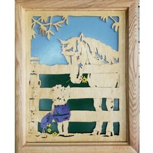 Hand-Crafted-Primitive-Art-Horse-Pony-Girl-Daisy-French-Farmhouse-Cottage-Chic
