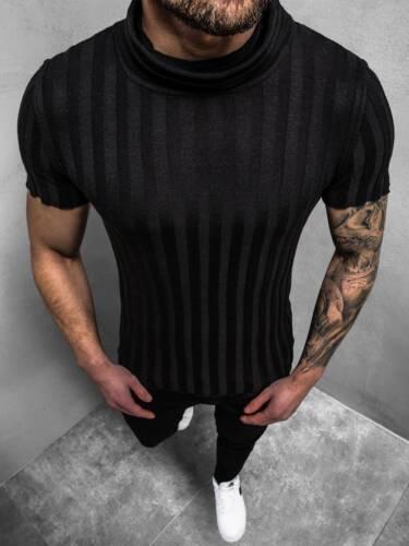Pull Tricoté Manches Courtes Shirt Sweatshirt Pull personnage souligne Messieurs OZONEE l//2294z