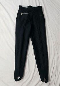 Ski Pants Vintage 90s Bogner Black Stretch Stirrup Ski Pants size 12 28 waist Made in USA