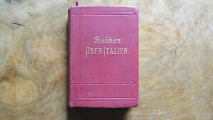 Baedeker-upper-Italy-13-Edition-1891-476-P-completely-stable-Clean