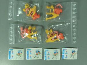 STECKIS-Footballspieler-034-Red-Devil-034-EU-1989-Komplettsatz-am-Steg-orange-AKF