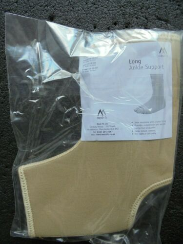 Long Ankle support size small fits ankles 15-20cm right or left ankle new