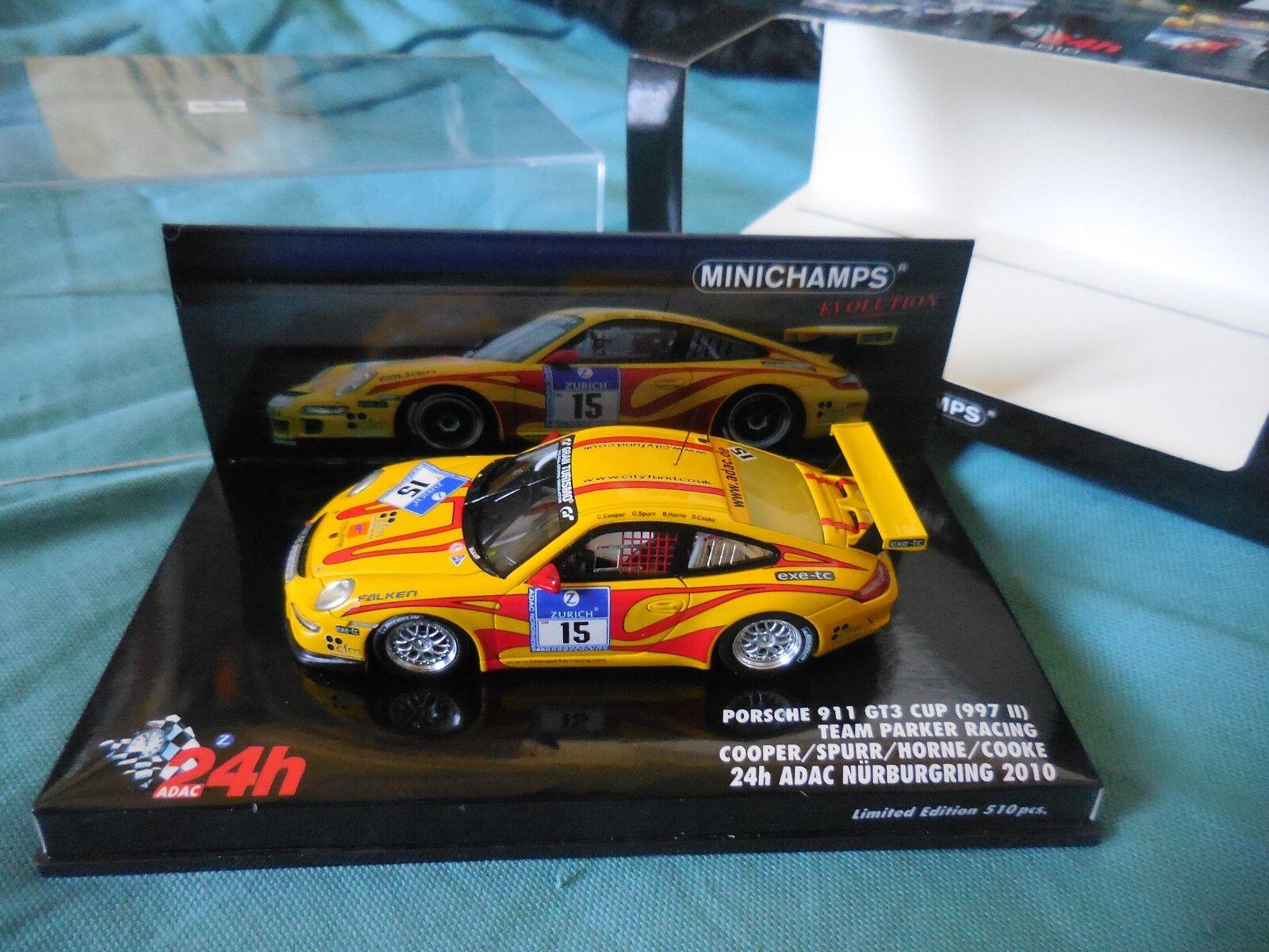 1 43 PORSCHE 911 GT3 CUP  15 24H NURBURGRING 2010 MINICHAMPS