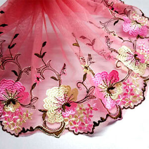 Gorgeous-Garden-Style-Mesh-Lace-Trim-Embroidered-Wedding-Clothing-Sewing-Craft