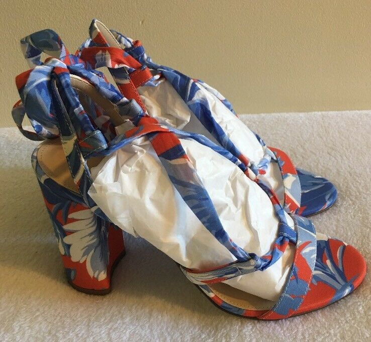 NEW JCREW Collection Wrap-around heels (100mm) Sz12 in Ratti Rio floral Sz12 (100mm) H9771 95fb67
