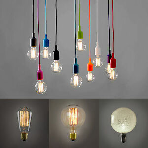 Industrial ceiling light fitting suspended coloured flex vintage image is loading industrial ceiling light fitting suspended coloured flex vintage aloadofball Image collections