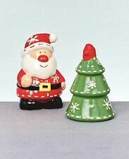 Christmas Tableware Ceramic Santa & Friends Salt & Pepper Shakers Cruet Set NEW