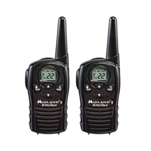 2 Long Range Security Two Way Radio 22-Channel Gmrs Walkie Talkie Set 18 Mile
