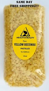 YELLOW-BEESWAX-BEES-WAX-by-H-amp-B-Oils-Center-ORGANIC-PASTILLES-BEADS-PURE-8-OZ