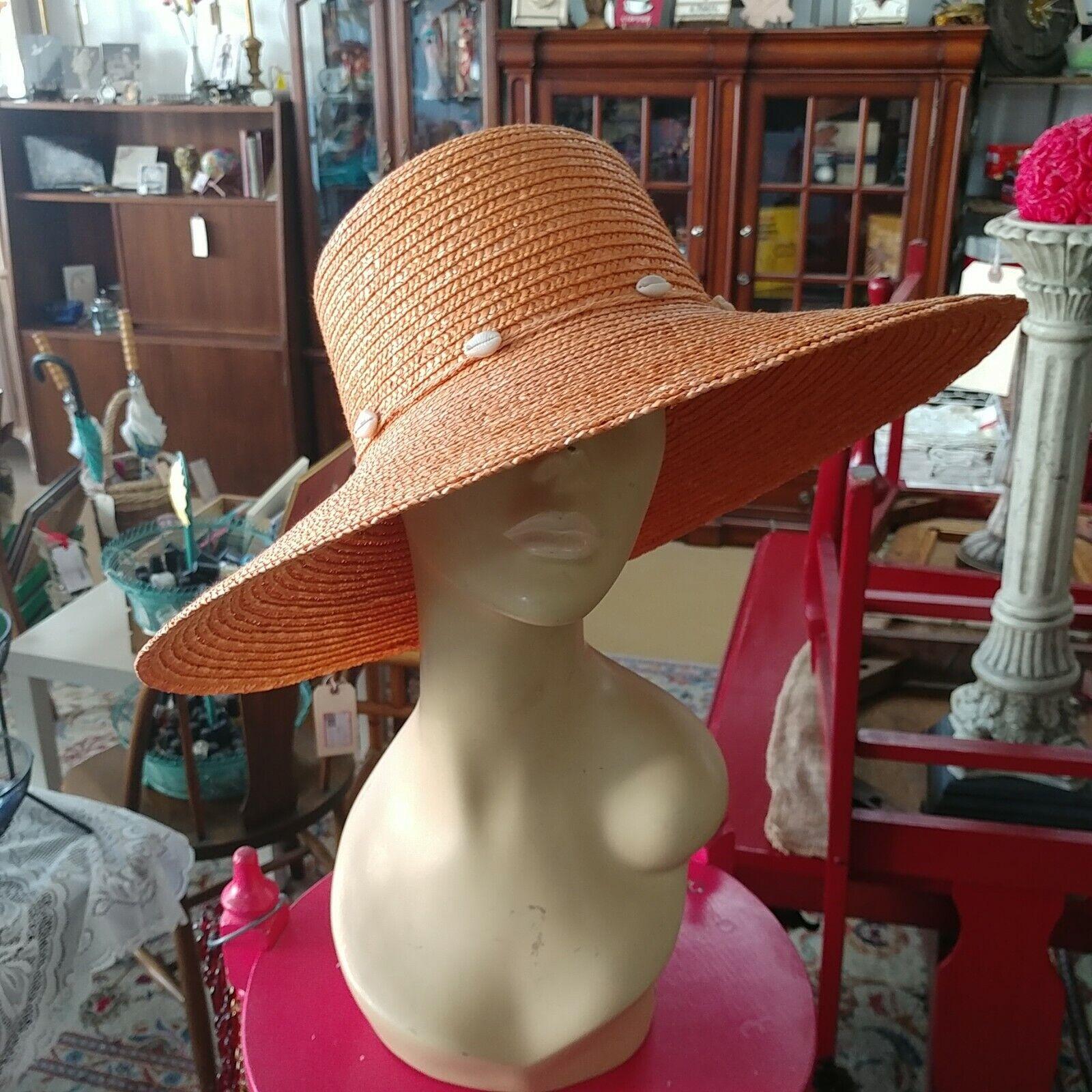 DP Brand Wide Brim Straw Hat - image 1