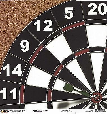 Scrappin Sports- Throwing Darts Scrapbooking Paper - 1168 Double Sided Dartboard